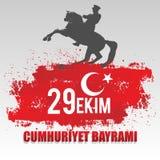 29th Oktober nationell republikdag av Turkiet, grafisk design för beröm Arkivfoto