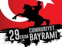 29th Oktober nationell republikdag av Turkiet, grafisk design för beröm Arkivbilder