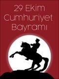 29th Oktober nationell republikdag av Turkiet, grafisk design för beröm Royaltyfri Foto