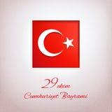 29th Oktober, republikdag i Turkiet Arkivfoto