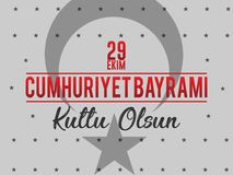 29th Października republiki Krajowy dzień Turcja, świętowanie Graficzny projekt Obraz Royalty Free