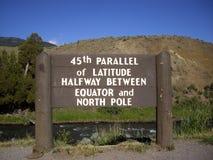 45th Paralela znak zdjęcie royalty free