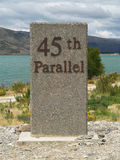 45th parallel milepost Stock Images