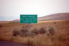 45 th Parallel Stock Photography