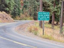 45th parallell i östliga Oregon Arkivfoton