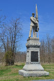 125th Pennsylvania Infantry Monument - Antietam National Battle Field. The 125th Pennsylvanis Infantry Monument with skyline background Royalty Free Stock Images