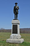 50th Pennsylvania monument - Antietam nationell slagfält, Maryland Arkivfoton