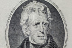 7th President of the United States, Andrew Jackson Portrait on twenty dollar bill Stock Photo