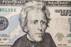 7th President of the United States, Andrew Jackson Portrait on twenty dollar bill Royalty Free Stock Photography