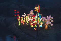 The 30th Qinhuai Lantern Festival in Qinhuai river royalty free stock photography
