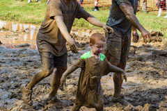 21th raça anual de Marine Mud Run - do movimento de Pollywog Fotos de Stock