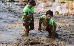 21th raça anual de Marine Mud Run - do movimento de Pollywog Fotografia de Stock Royalty Free