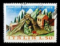 900th rocznica śmierć święty Peter Damian, seria, cir obraz stock