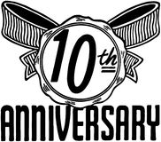 10th rocznica Fotografia Stock