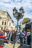 25th rocznica Niemiecka jedność w Frankfurt Zdjęcie Royalty Free
