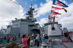 75th rocznica podstawa Nowa Zelandia marynarka wojenna zdjęcia stock