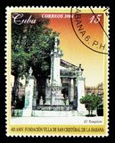 485th rocznica San Cristobal De Los angeles Habana Świątynia seria Zdjęcie Royalty Free