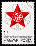 60th rocznica Węgierska partia komunistyczna, Rocznicowy seria około 1978, obraz royalty free