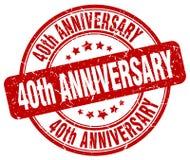 40th rocznica znaczek Obrazy Royalty Free