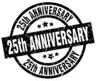 25th rocznica znaczek ilustracji