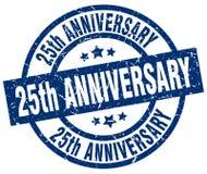 25th rocznica znaczek royalty ilustracja