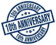 10th rocznica znaczek Royalty Ilustracja