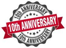 10th rocznica znaczek Obrazy Royalty Free