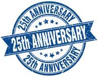 25th rocznica znaczek Obraz Royalty Free