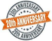 20th rocznica znaczek Fotografia Stock
