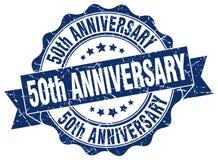 50th rocznicowa foka znaczek ilustracja wektor