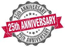 25th rocznicowa foka znaczek Obraz Stock