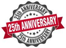 25th rocznicowa foka znaczek Obraz Royalty Free