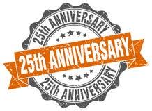 25th rocznicowa foka znaczek Zdjęcie Stock