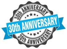 30th rocznicowa foka znaczek Zdjęcia Royalty Free