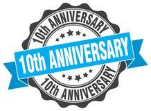 10th rocznicowa foka znaczek ilustracji