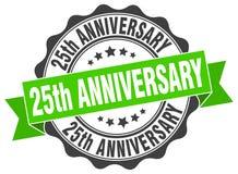 25th rocznicowa foka znaczek Fotografia Royalty Free
