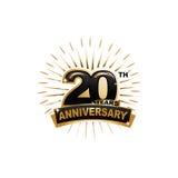 20th rocznicowa ilustracja Zdjęcia Royalty Free