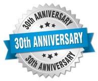 30th rocznicowa round odosobniona odznaka Obraz Royalty Free