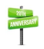 20th rocznicowa znak uliczny ilustracja Obraz Stock