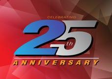 25th rocznicowe odświętność loga szarość dalej i błękitny kolor Royalty Ilustracja