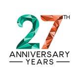 27th rocznicowego roku abstrakcjonistycznego trójboka nowożytny pełny col ilustracji