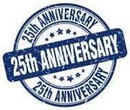 25th rocznicowy błękita znaczek Obrazy Royalty Free