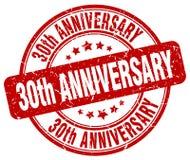 30th rocznicowy czerwień znaczek Obraz Stock