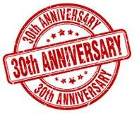 30th rocznicowy czerwień znaczek Obrazy Stock