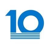 10th rocznicowy emblemat Zdjęcie Stock