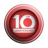 10th rocznicowy emblemat Fotografia Stock