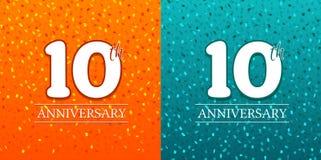 10th Rocznicowy tło - 10 rok świętowań Urodzinowy Eps10 wektor Zdjęcie Royalty Free