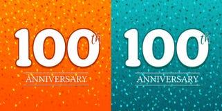 100th Rocznicowy tło - 100 rok świętowań Urodzinowy Eps10 wektor royalty ilustracja