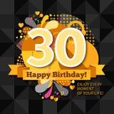 30th rocznicy karta Obraz Stock