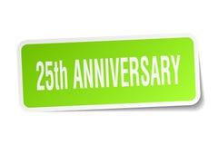 25th rocznicy kwadratowy majcher Zdjęcie Stock